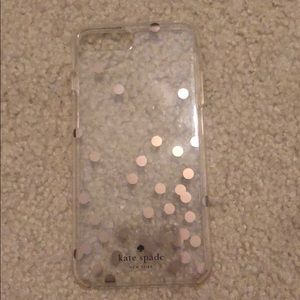 Kate Spade IPhone 7 Plus clear polka dot case